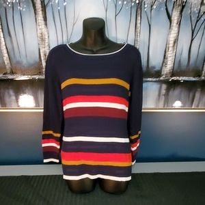 TommyHilfiger Ladies stripped sweater.